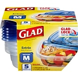 Glad® Food Storage Containers, Entree, 25oz, 5 Count
