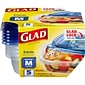 Glad Food Storage Containers, Entree Container, 25 Ounce, 5 Containers (60795)