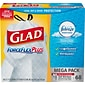 Glad® Low Density Trash Bags; ForceFlex™ w/Febreze™, Drawstring, 13 Gallon, 68/Box