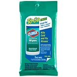 Clorox® Disinfecting Wipes On The Go, Fresh Scent, 9 Count, 24 Packs/Carton
