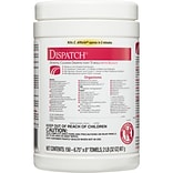 Dispatch Hospital Cleaner Disinfectant Towels with Bleach, 150 Count Canister (69150)
