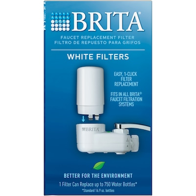 Brita On Tap Water Filtration System Faucets Replacement Filters, White, 1 Count (36309)