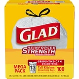 Glad® 13-Gallon Drawstring Trash Bags