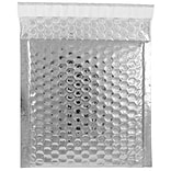 JAM Paper® CD Size Bubble Mailers with Peel and Seal Closure, 6 x 6.5, Silver Metallic, 12/pack (274