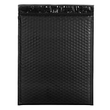 JAM Paper® Bubble Mailers with Peel and Seal Closure, 12 x 15 1/2, Black Matte, 12/pack (31406014)