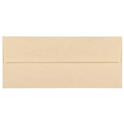 JAM Paper® #10 Business Envelopes, 4 1/8 x 9 1/2, Brown Parchment Recycled, 500/box (V01722H)
