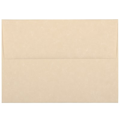 JAM Paper® A6 Invitation Envelopes, 4.75 x 6.5, Parchment Brown Recycled, 250/box (35220H)