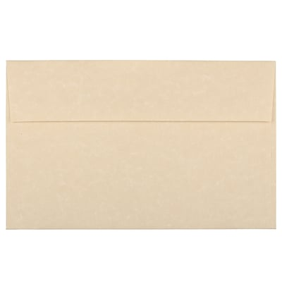 JAM Paper® A10 Invitation Envelopes, 6 x 9.5, Parchment Brown Recycled, 250/box (52074H)