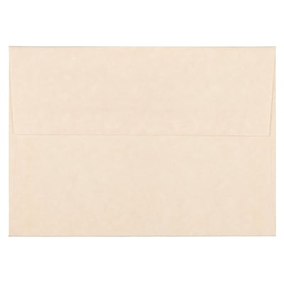 JAM Paper® A6 Invitation Envelopes, 4.75 x 6.5, Parchment Natural Recycled, 250/box (34926H)