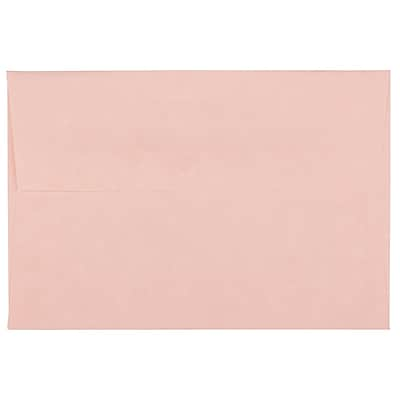 JAM Paper® 4bar A1 Envelopes, 3 5/8 x 5 1/8, Parchment Pink Recycled, 1000/carton (123456B)