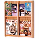 Wooden Mallet Solid Wood/Acrylic Literature Rack; 4 Magazine Pockets