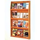 24-Pocket Oak Literature Display