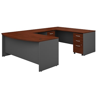 Bush Business Furniture Westfield 72w X 36d Bow Front U Shaped Desk