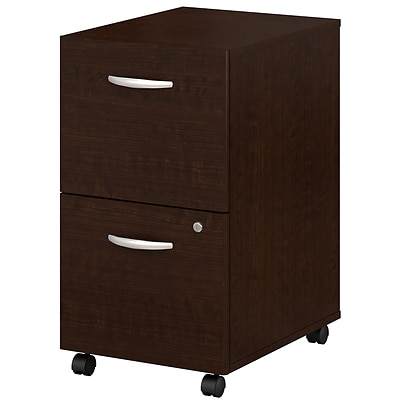 Bush Business Westfield Elite 2 Drawer Mobile Pedestal, Mocha Cherry