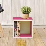 Way Basics zBoard Paperboard Storage Cube, Pink