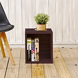 Way Basics 15.5H x 13.4W Modular Storage Cube Plus Modern Eco Organizer, Espresso Wood Grain (BS28