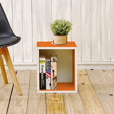 Way Basics zBoard Paperboard Storage Cube, Orange