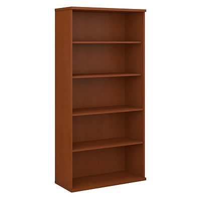 Bush Business Furniture Westfield 36W 5 Shelf Bookcase, Auburn Maple (WC48514)
