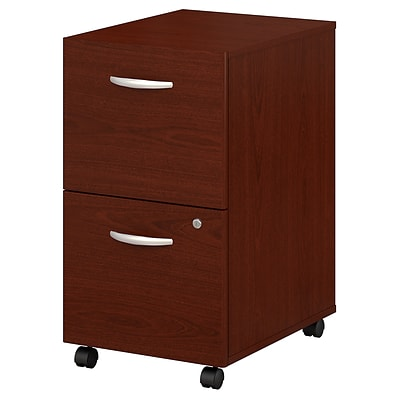 Bush Business Furniture Westfield 2 Drawer Mobile File Cabinet, Mahogany (WC36752SU)