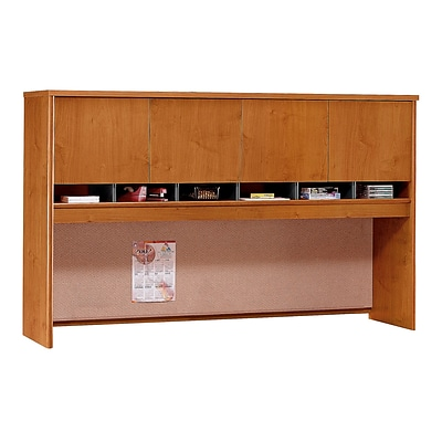 Bush Business Furniture Westfield 72W 4 Door Hutch, Natural Cherry (WC72477K)