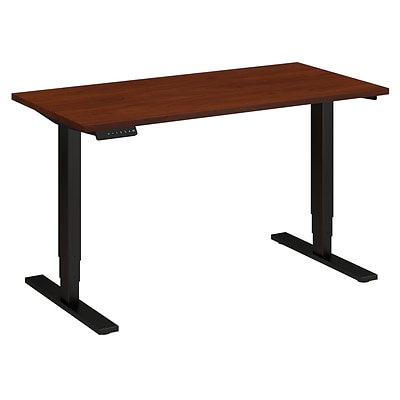 Bush Business 48W x 24D Height Adjustable Standing Desk, Hansen Cherry with Black Base