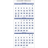 2019 Quill Brand® Quarterly Wall Calendar; Blue, 27 x 12 (52166-19-QCC)