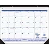 2020 Quill Brand® 22 x 17 Monthly Desk Pad, Black (52163-20)