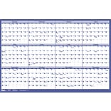 2019 Quill Brand® Erasable Wall Calendar; Blue, 24 x 36 (52169-19-QCC)