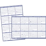 2019 Quill Brand® Erasable Wall Calendar; Blue, 32 x 48 (52167-19-QCC)