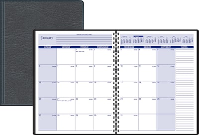 "2019 Quill Brand® Medium Monthly Planner, 6-7/8"" x 8-3/4"" (52159-19-QCC)"