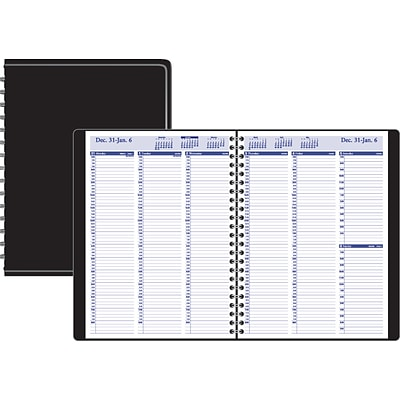 2020 Quill Brand® 8 x 10 Weekly Planner, Black (52161-20)