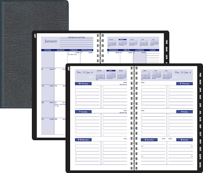 2019 Quill Brand® Weekly/Monthly Planner, Black, 5X8 (52157-19-QCC)