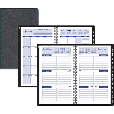 2020 Quill Brand® 5 x 8 Weekly/Monthly Planner, Black (52157-20)