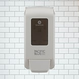 "Pacific Blue Ultra™ Wall-Mounted Dispenser for Soap and Hand Sanitizer by GP PRO, White, 11.5""H x 5."