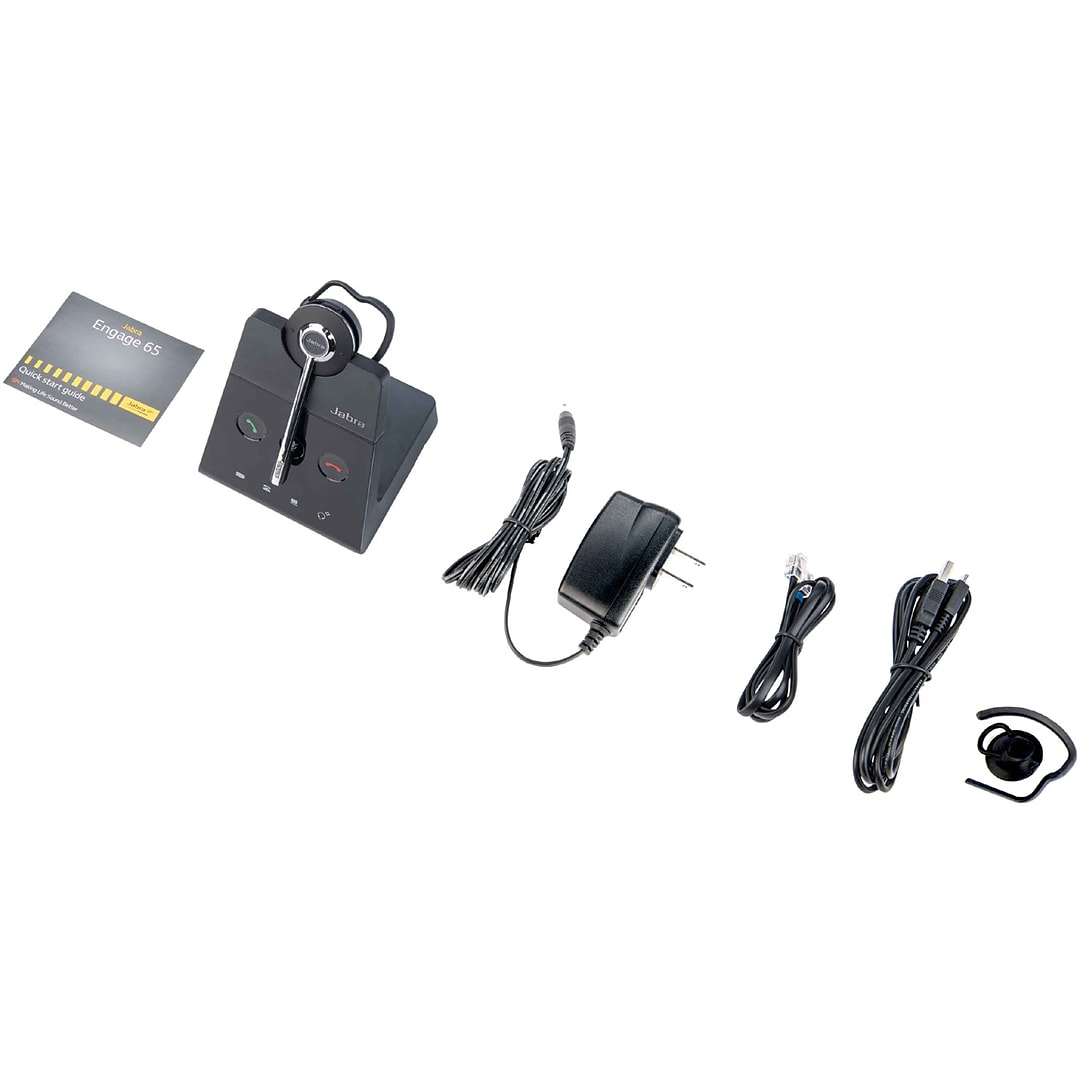 Jabra Engage 75 Convertible Wireless Mono Headset Over The Head Black 9555 583 125 Quill Com