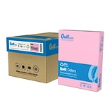 Quill Brand® 30% Recycled 8-1/2 x 11 Pink Multipurpose Paper, 20 lbs., 10 Reams/CT (720567CT)