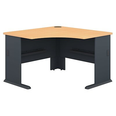Bush Business Furniture Cubix 48W Corner Desk, Beech (WC14366)