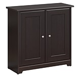 Bush Furniture Cabot Small Storage Cabinet w/ Doors, Espresso Oak (WC31896-03)