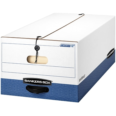 Bankers Box® Liberty® Heavy-Duty FastFold® Storage Boxes with String & Button, Legal, 12/Ct (00012)