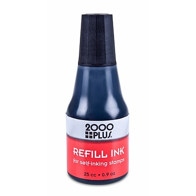 2000 Plus® Ink Refills for Self-Inking Stamp Pads, Black