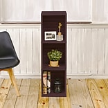 Way Basics zBoard Paperboard Triple Cube Plus Bookcase, Espresso