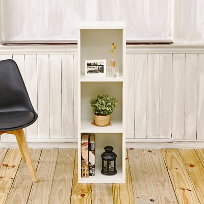 Way Basics zBoard Paperboard Triple Cube Plus Bookcase, White
