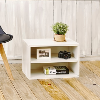 Way Basics Divider Blox 15 inch Eco Friendly Storage and Stackable Shelving White (WB-DRECT-WE)