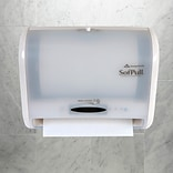 "SofPull® 9"" Automated Touchless Paper Towel Dispenser by GP PRO, White, 12.800"" W x 6.500"" D x 10.50"