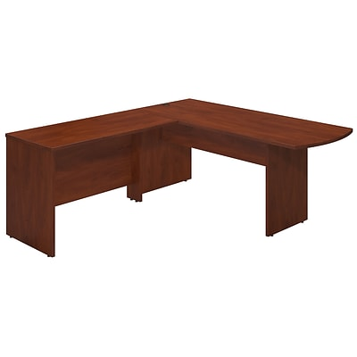 Bush Business Westfield Elite 72Wx30D Peninsula Desk Shell with 48W Return, Hansen Cherry, Installed