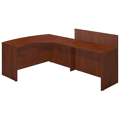 Bush Business Westfield 60Wx43D Right Bowfront Desk Shell w/ 48W Privacy Return, Cherry, Installed