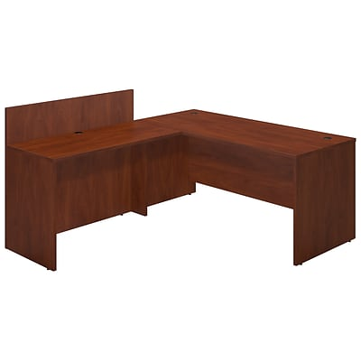 Bush Business Westfield Elite 66W x 30D Desk Shell with 48W Privacy Return, Hansen Cherry