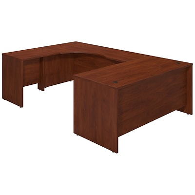Bush Business Westfield Elite 66W x 30D Right Hand U Station Desk Shell, Hansen Cherry, Installed