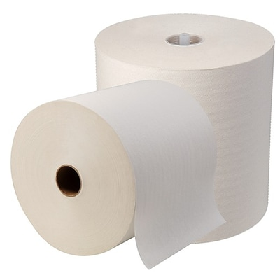 Georgia-Pacific® Sofpull® High-Capacity Hardwound Paper Towels, 1-Ply, White, 1,000 Ft/Roll, 6 Rolls/Carton (26470)