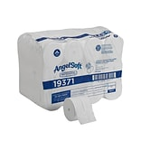Angel Soft Professional Series Compact Coreless Toilet Paper, 2-Ply, White Premium Embossed, 750 Sht
